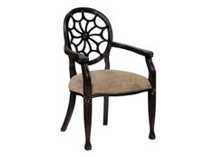 Charlotte Accent Chair | This accent chair features a classic spider back and decorative carvings along the arms, legs and back.