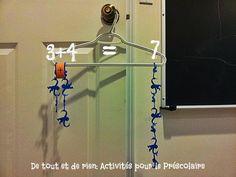 De tout et de rien: Activités pour le Préscolaire: Cintre, singes et mathématiques!