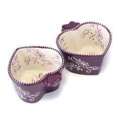 temp-tations® Floral Lace Set of Two Heart-Shaped Ramekins :: temp-tations® by Tara