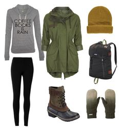 """Seattle"" by tomboyfeminist on Polyvore featuring Max Studio, Topshop, SOREL, Forever 21, Bench and Patagonia"