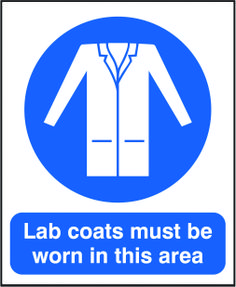 Lab coats must be worn in this area sign,  Beaverswood - Identification Solutions
