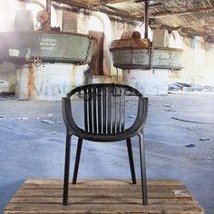 Tuinstoelen : Basket stoel zwart - Vintagelab15.com