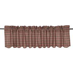 Canavar Ridge Scalloped Curtain Valance 72 x 16 Valances & Cornices, Curtain Valances, Kitchen Valances, Curtain Lights, Drapes Curtains, Window Treatments, Victorian, Rustic, Fabric