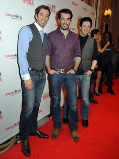 'The Property Brothers' twins, Johnathan and Drew Scott http://www.lasvegasroundtheclock.com/images/stories/Judy/01-14-13/The_Property_Brothers_Johnathan_Drew_Canon_2013_Benefit_for_The_National_Center_For_Missing_And_Exploited_Children18950_2.JPG