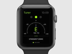 We've been exploring ideas for the Apple Watch lately. A lot of us play instruments, so a Tuner app is something we'd really love to have on our wrists. Apple Watch Apps, Responsive Web Design, Wearable Device, User Interface Design, Interactive Design, App Design, Mobile App, Long Hours, Watches