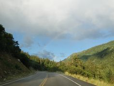 Our last drive up the mountain, there was a scattered shower and a rainbow. :-)