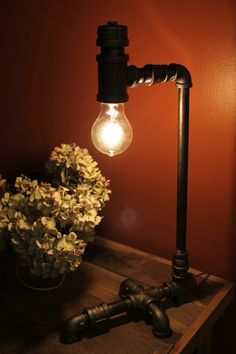 Handmade Industral Pipe Lamp by FortenberryDesigns on Etsy