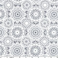Doily Dance - Gray  by Michael Miller