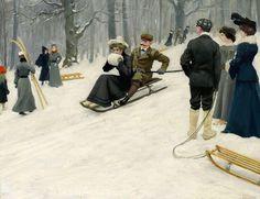 Paul Gustave Fischer. Sledging (Copenhagen)
