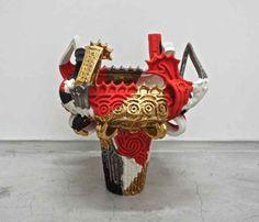 Junpei Omori 「Gems」 (2014) 35 x 35 x 42 cm, ceramic