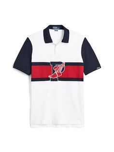 Polo Ralph Lauren Classic Fit Stadium Polo Shirt - Polo Ralph Lauren The Stadium Collection - Ralph Lauren UK Long Sleeve Polo, Long Sleeve Shirts, Polo Shirt Design, Scania V8, Ralph Lauren Uk, Anti Fashion, Preppy Men, Shirt Men, T Shirt
