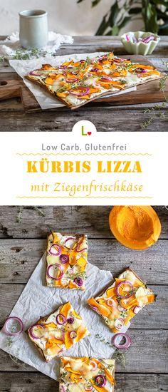 Kürbis Party! - Mit dem Kürbis Lizza Pizza habt ihr das perfekte Herbstrezept auf dem Tisch. Die Creme ist aus Creme Fraiche und Ziegenfrischkäse, verfeinert und dekoriert mit Mozarella, Kürbise und Zwiebeln. Für weitere tolle Rezepte besucht unsere Seite: https://lizza.de/pages/rezepte