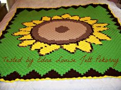 Sunflower Afghan Pattern  C2C Graph and C2C by CrochetCouch