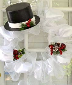 http://www.pinterest.com/stephaniejoanna/wreaths/ deco mesh wreaths | Festive Frosty Deco Mesh Wreath for Sale in Augusta, Georgia ...