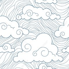 japanese clouds print - Google Search.  This would be such a great quilting pattern for a mug rug