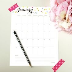 2014 Editable Calendar