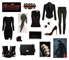 """""""Marvel - Avenger's Age of Ultron - Ultron [women version]"""" by pesca8 ❤ liked on Polyvore featuring McQ by Alexander McQueen, Furla, Christian Louboutin, Balenciaga, Aspinal of London, Marni, Jean-Paul Gaultier, Avengers, marvel and ageofultron"""