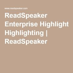 Cloud-Based Multilingual Solution ReadSpeaker Enterprise Highlighting consists of a…Read the full article Cloud Based, Highlights, Luminizer, Hair Highlights, Highlight