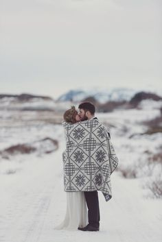 Winter Wedding Inspiration - Iceland Elopement | Images by Rebecca Douglas Photography | Rock The Frock Bridal Dresses