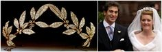 The Faberge Myrtle Leaf tiara was worn by Lady Tamara Grosvenor, daughter of 6th Duke of Westminster, when she wed Edward van Cutsem, on 6 November 2004, in Chester Cathedral.