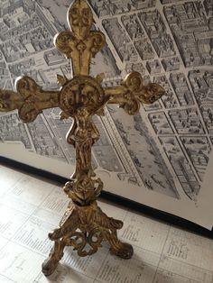 Beautiful French altar cross