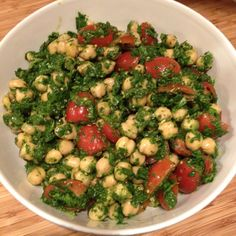 Garbanzo beans salad.