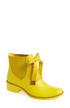 Bernardo 'Lacey' Short Waterproof Rain Boot at #Nordstrom #yellow