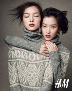 Asian Invasion. Huge fan of FeiFei Sun(one on the left), who got discovered by Elite competition in China and used her for my lookbook (www.gracesundesign.com)