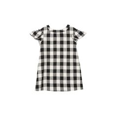 Adèle dress Black and white gingham