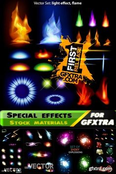 Glowing light effects and special effects 25xEPS