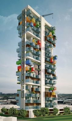 #architecture : GA Designs Radical Shipping Container Skyscraper for Mumbai Slum | ArchDaily