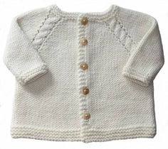 Baby Angel Baby Cardigan - - knitted - Gilet bébé Baby Ange – – tricot * This baby vest is knitted in one piece starting with the… Baby Boy Cardigan, Cardigan Bebe, Baby Pullover, Crochet Baby Boy Hat, Baby Cardigan Knitting Pattern, Crochet Cardigan Pattern, Knitting Patterns Boys, Knitting For Kids, Baby Patterns