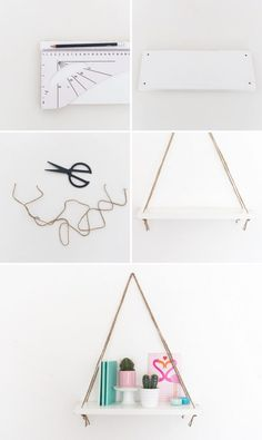 Try this easy and affordable Swing Shelf DIY!