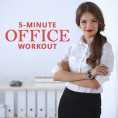 Make a new goal this week and complete this 5 Minute Office Workout every day!  #officeworkouts #workouts #weightloss