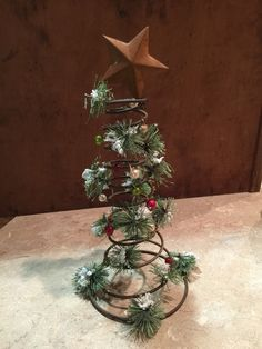 Bed Spring Christmas Tree by PlumForgottenVintage on Etsy