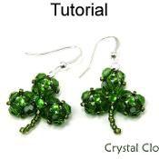 Crystal Clover Pendant Earrings