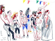 """It was a magic weekend at inDnegev - festival of indie music in the Negev desert. We, Urban Sketchers, also a kind of """"indie"""" - not really m..."""