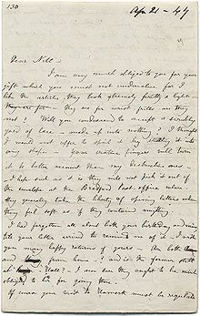 A letter from Charlotte Bronte