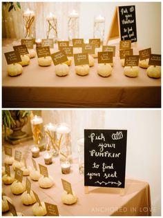 |Emily & Mike| Pumpkin Name Tags| www.thestockroomat230.com #thestockroom #thestockroomat230  #downtownraleigh #weddingvenue  #reception #raleighweddingvenue