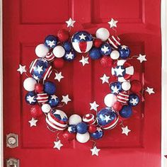 Stars and Stripes wreath - wreath or holiday decor Fourth Of July Decor, 4th Of July Celebration, 4th Of July Decorations, 4th Of July Party, 4th Of July Wreath, July 4th, Christmas Decorations, Patriotic Crafts, Patriotic Wreath