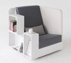 poltrona, libri, caffè... Open Book Chair by TILT