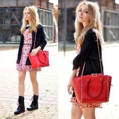 Zara Dress, Valentino Boots, Valentino Bag