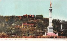 Lot of 4 Early/Vintage Chattanooga, Tennessee, Early 1900s Postcards #33422