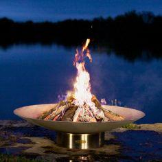 Chauffage terrasse: le brasero de jardin et le panier de feu superbes!