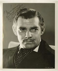 ~from the golden age of Hollywood , classic handsome , Mr. Clark Gable~