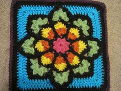 stained glass window crochet square