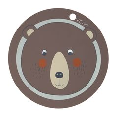 Serve a yummy breakfast for the kids on this cute placemat from OYOY. The round placemat has a motif of a blushing bear and is punched with a circled Cute Lion, Shops, Bear Face, Bear Print, Kid Table, Cleaning Wipes, Scandinavian, Kids Room, Vintage