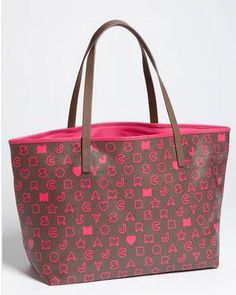 062e8e665c54 Marc by Marc Jacobs hazelnut and pink tote.
