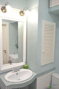 Ванная комната, островок цвета в белом-белом доме