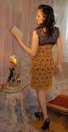 Авторское кружевное платье Осень